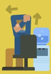 desk stretches elbow pump
