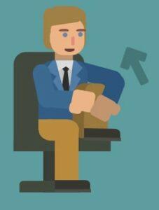 desk stretches knee jerk